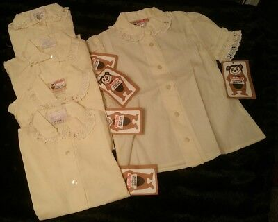 Vintage girls blouse Job lot of 5 :: BRAND NEW WITH TAGS TICK-A-TEE 4-5 5-6 & 7