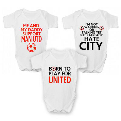 Funny Manchester United Baby Grow / Sleepsuit - Funny Man Utd Babies Clothing