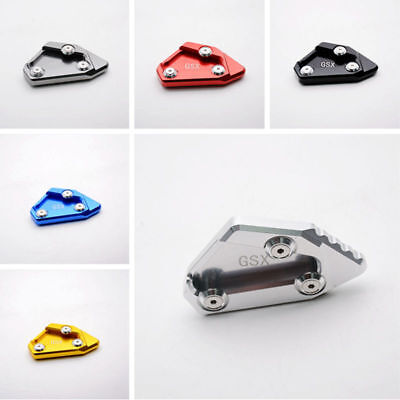 CNC Side Stand Enlarger Kickstand Plate Extension Pad For Suzuki GSXR1000 12-15