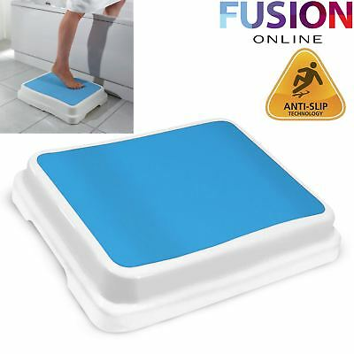 Bath Step Stool Stack-Able Safety Aid Disability Non Slip Shower Step X Large