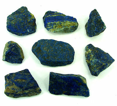 500.00 Ct Natural Blue Lapis Lazuli Loose Gemstone Stone Rough Lot 8 Pcs - 5469