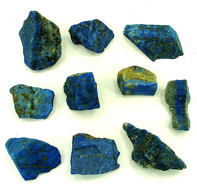 500.00 Ct Natural Blue Lapis Lazuli Loose Gemstone Stone Rough Lot 10 Pcs - 5474
