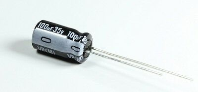 Qty 25 Nichicon VZ 100uF 35V 105C electrolytic capacitors - US Seller
