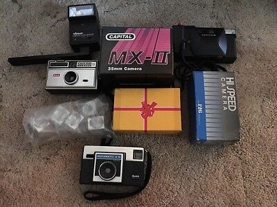 Lot Of Vintage Film Cameras & Accessories