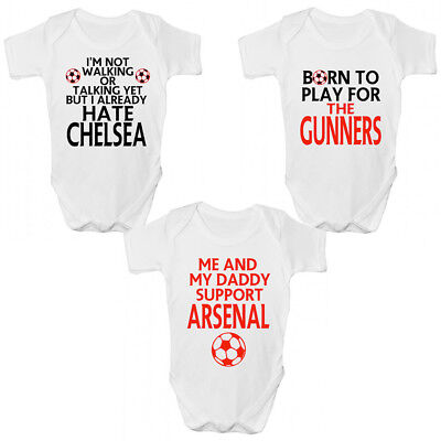 Funny Arsenal FC Baby Grow / Sleepsuit - Funny Gunners Babies Clothing