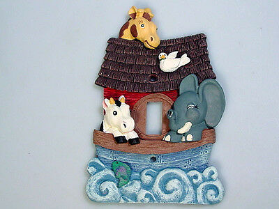 Noahs Noah's ark Light switch cover giraffe elephant religious Nursery decor