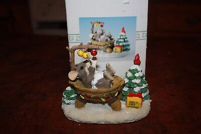 Charming Tails 1997 BABY'S FIRST CHRISTMAS 1st Squasfiville Figurine 87705 Box