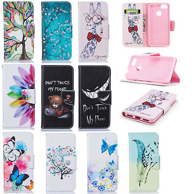For Huawei P Smart/P8 P9 Lite 2017 Luxury Flip Painted Wallet Leather Case Cover