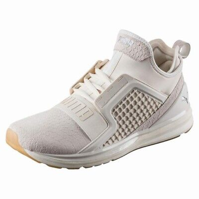 f26b0b10d1a Mens Puma Ignite Limitless Reptile Whisper White Lace Up Casual Trainers