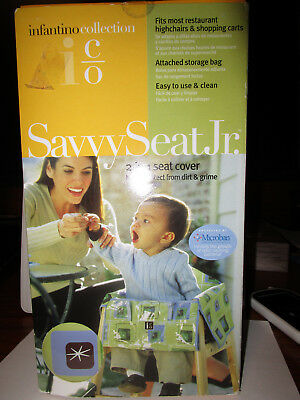 INFANTINO Savvy Seat Jr. Cart/High Chair Cover 2in1 Microban Protected