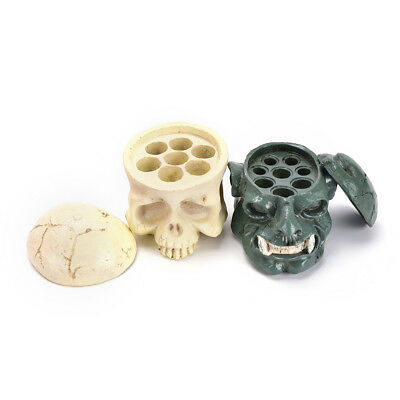 Tattoo Hard Skull Resin Ink Cup Holder Stand Pigment Cup Bracket Trailer P&T