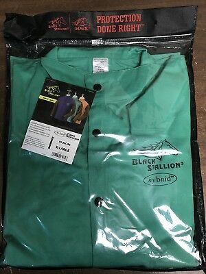 Black Stallion Revco F9-30C/BS FR Cotton & Cowhide Hybrid Welding Jacket GreenXL