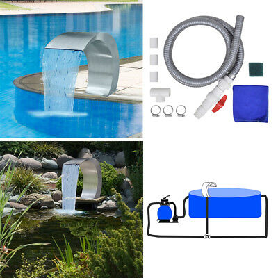 Swimming Pool Waterfall Garden Outdoor Above Ground Fountain Stainless Steel Spa