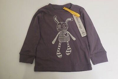 New Small Rags Unisex Infant Grey Shirt With Design Size 6 Months - Infant Top