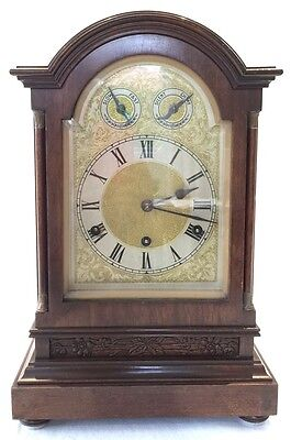 A Victorian Carl Werner Westminster Chiming  Mahogany Cased Bracket Clock