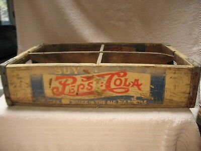 Pepsi Wooden Soda Crate Very Rare, Vintage...