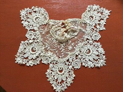 Late Victorian Early Edwardian High Neck Lace Collar
