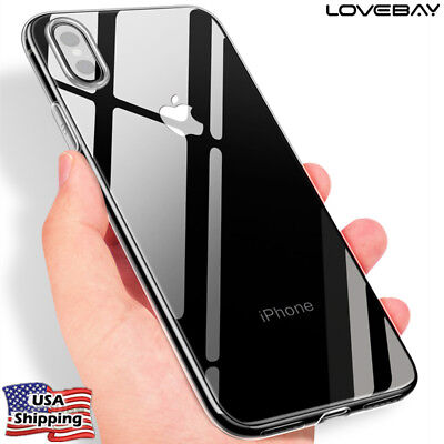 iPhone X Ultra Slim Rubber TPU Clear Shockproof Soft Case Cover Skin For Apple