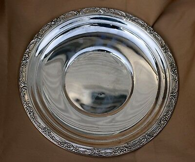 """Reed & Barton Solid Sterling Silver Plate, Burgundy 10.5"""" 280 Grams # X747"""