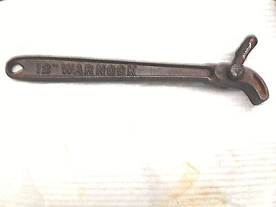 "Strap Wrench, 12"" WARNOCK STRAP Wrench, Made in Worcester MASS.  USA"
