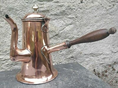 Early 19th Century Georgian Copper Hot Chocolate Coffee pot c. 1830