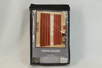 Union Square 95-Inch Grommet Top Window Curtain Panel in Chocolate