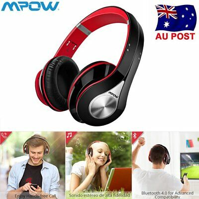 Mpow Bluetooth 4.0  Headphones Stereo HiFi  Headset  Noise Cancelling Foldable
