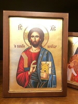 Jesus Christ The Pantocrator Handmade Greek orthodox  byzantine icon3