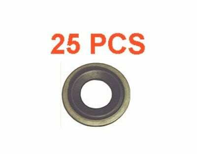 10x M12 Metal Rubber Oil Drain Plug Crush Washer Gaskets Fits Chevrolet 097-021