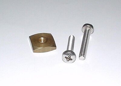 US Box Fin Bolts & Nut for windsurfing fins - SUP Fin screws and plate