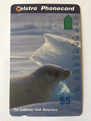 Telstra Phone Card - Collectable Retro Telephone Communication Antarctica