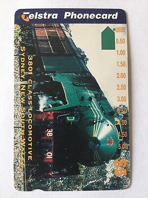 Telstra Phone Card - Collectable Retro Telephone 3801 Class Locomotive