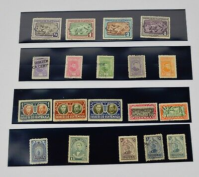 18 Vintage 40's  50's Guatemala Stamps Lot, Hinged