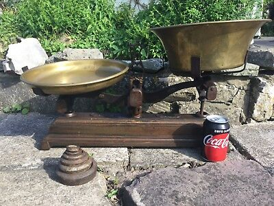 "Antique French Shop Scales, ""Force"" 20 Kg Shop/bakery Scales,"
