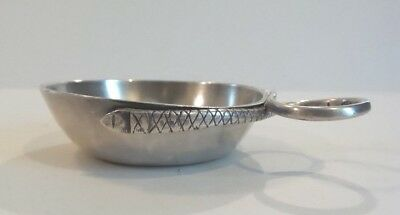 Antique French Silver TASTEVIN Wine Taster Cup Stylized Snake Handle