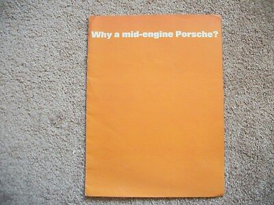 1971 Porsche 914 Mid-Engine Dealer Color Sales Brochure-10 Pg