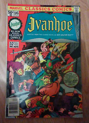 Marvel Classic Comics #16 (1977) Ivanhoe VF+ Combined P&P Available