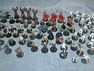 Star Wars Miniatures ~ HUGE Lot of 97 pieces ~ Many Different types ~ MUST SEE!!