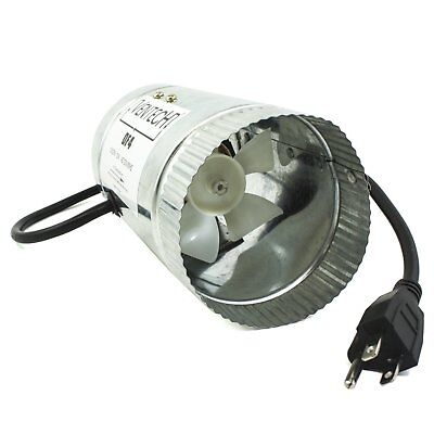 """VenTech 4"""" 6"""" 8"""" Inch Inline Booster Duct Fan Air Blower for Ventilation Exhaust"""