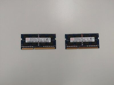 8GB Hynix PC3L-12800s DDR3-1600 2Rx8 Laptop Ram (4GB x 2)