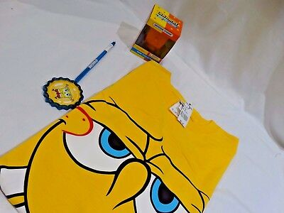 Universal Studios SpongeBob Men's XL T-shirt, Pen, and Figure