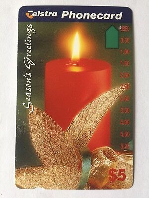 Telstra Phone Card - Collectable Retro - Seasons Greetings Christmas