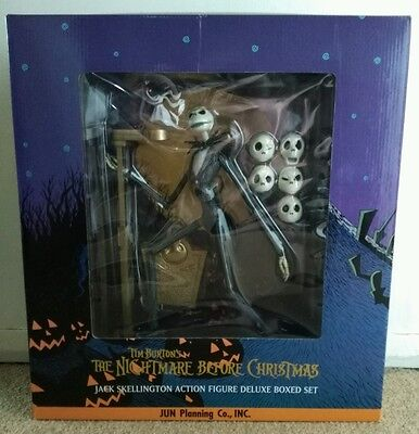 Nightmare Before Christmas Jack Skellington Delux Boxed Action Figure Doll Plus
