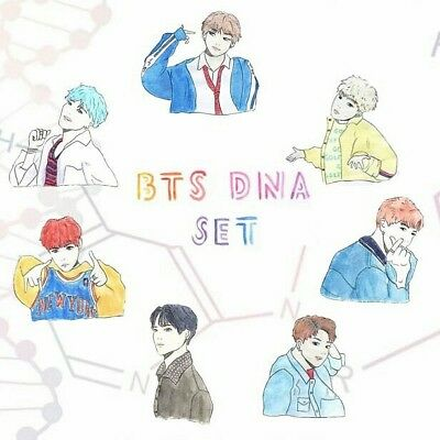 Bts Dna Stickers- Full Set
