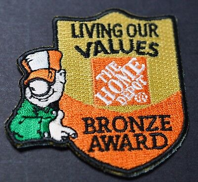 Home Depot Living Our Values Homer Bronze Award Patch