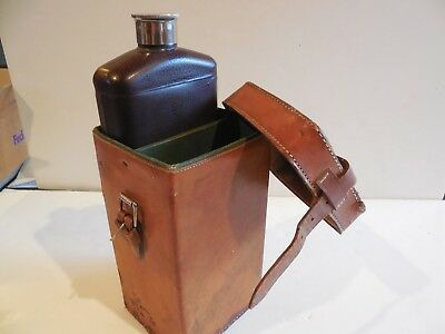 Vintage STANLEY Flask in Leather Case