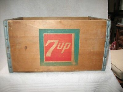 7-UP Wooden Soda Crate a rare vintage 1945