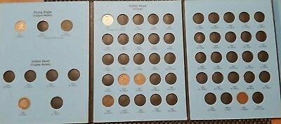 Indian Head Cent! Ultimate Starter! Some Harder Dates! Whitman Coin Album!