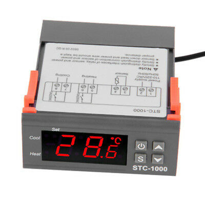 Digital STC-1000 All-Purpose Temperature Controller Thermostat W Sensor AC 220V