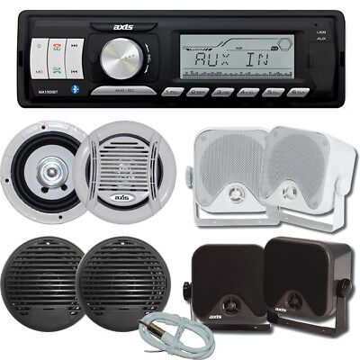 AXIS Marine Stereo Kit MA1500BT Bluetooth + 1 Pair Speakers + Antenna - Compact